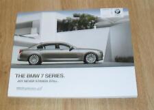 BMW 7 Series Brochure 2010 740i 740Li 750i 750Li 760Li 730d 730Ld 740d - F01 F02