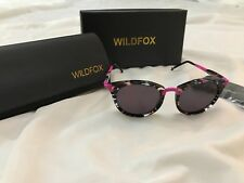 BNIB WILDFOX SUNSET SUNGLASSES IN FIREWORKS COLOUR MIRRORED LENS