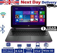 """HP Pavilion 15-au128na 15.6"""" Laptop Intel 7th-Gen i3 2.40Ghz 8GB RAM 750GB HDD"""