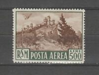 s36421 SAN MARINO 1951 MNH L.500 Bruno Posta Aerea  1v #97