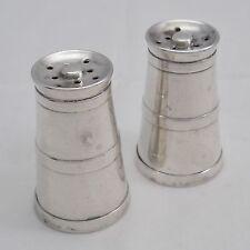 SALE Hallmarked silver miniature milk churn salt & pepper vintage cruet 1921 22g