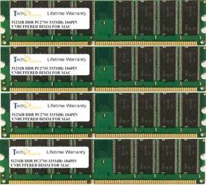 2GB (4 X 512MB) PC2700 333MHz 184PIN  APPLE POWERMAC G4 MEMORY RAM