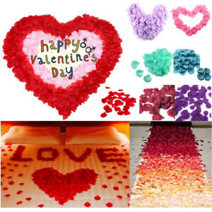 200-1000pcs Flower Rose Petals Wedding Party Table Decoration Floral Confetti