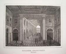 Mailand Milano Galerie Christo Foris  Italien Italia  alter  Stahlstich 1842