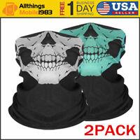 2pcs Face Mask Sun Shield Neck Gaiter Balaclava Neckerchief Bandana Headband
