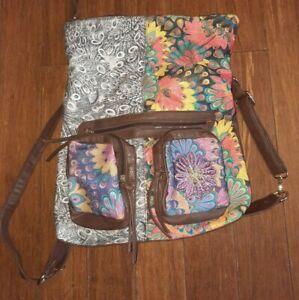 Joe Browns -Backpack Ladies Girls Women Bag Canvas Rucksack School Gym Travel