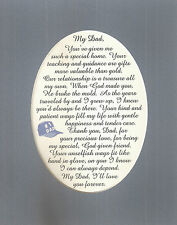 MY DAD God Given FRIEND Teach Guide KIND PATIENT Father LOVE verses poem plaques
