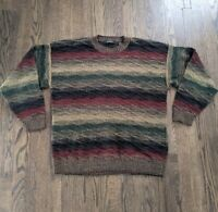 Vintage Bachrach Cosby Pullover Sweater Hip Hop 3D Textured Mens Size Large