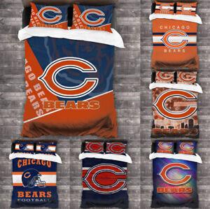 Chicago Bears 3PCS Bedding Set Duvet Cover Pillowcases Comforter Cover Set
