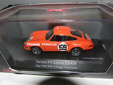 PORSCHE 911S 2.5 BRUMOS GREGG-HAYWOOD WINNER CHAMPIONNAT IMSA 72 1/43ème SCHUCO