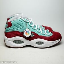 Reebok SneakersnStuff SNS Question Mid A Shoe About Nothing Aqua Red Suede 39dae8684
