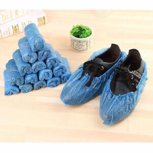 40 Stück Schuhüberzieher Einmal Shoe Cover Einweg Überschuhe Überzieher Blau