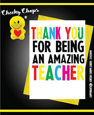 FUNNY Thank You Card Teacher Assistant Helper End Of Year School Leavers - c204