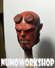 "Hellboy 1/6 Scale CUSTOM UNPAINT HEAD for 12"" Body Figure by Numo"
