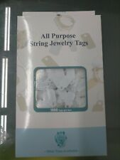 Prc 1000 String Price Tags Jewelry Clothing Sale Display Tag White Ta762
