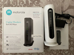 MOTOROLA MB7220 8x4 Cable Modem 343 Mbps DOCSIS 3.0 for Comcast XFINITY Cox TWC