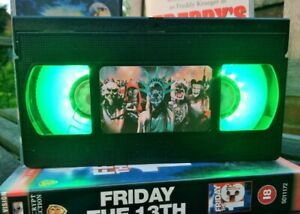 Purge Movie Horror Desk Lamp, Horror Movie, VHS, Bed Light, Present, Gift, TV,