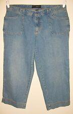 Lane Bryant Venezia Women's Cropped Blue Jeans, Pants. Size 16. NWOT