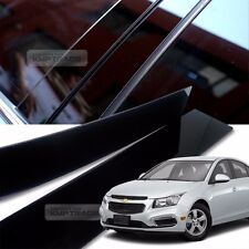 Glossy Black B C Pillar Post UV Coating Cover 8Pcs For CHEVROLET 2008-2016 Cruze