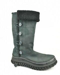 Nike Women Valenka 2 Black Leather Winter Boots US 9 Puddle Proof 375461-001 EUC