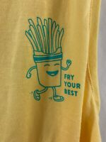 Old Navy Active Go Dry Athletic Tank Top Puns Fry Your Best Yellow Size Small