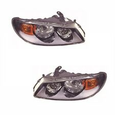 For Nissan Almera 2/2003-2006 Headlights Headlamps Black 1 Pair O/s & N/s