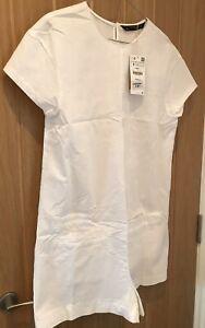 Brand New ZARA White Cotton Playsuit w/ Pockets - Size S