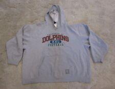 Miami Dolphins Pullover Hoodie Mens Hooded Sweatshirt Grey Reebok