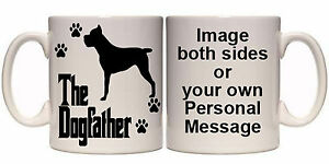 CANE CORSO THE DOGFATHER PERSONALISED DOG MUG (AN8) ALL BREEDS 11oz & 15oz GIFT