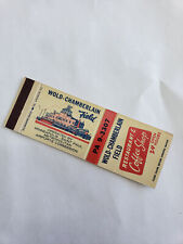 Vintage Matchbook Cover Wold Chamberlain Field Restaurant Coffee Shop Minneapoli