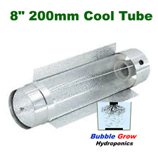 "COOLTUBE 8"" 200MM GROW TENT LIGHT REFLECTOR COOL TUBE ALUMINIUM ABOVE"