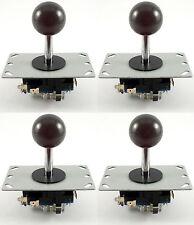 4 X Sanwa Estilo bola superior Arcade Palancas De Mando, 8 Way (negro) - Mame, Jamma