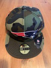 New Era Camo Flat Peak Cap NFL New England Patriots Size 7 / 55.8cm