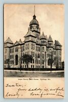 Carthage MO, Jasper County Court House, Missouri c1914 RPO Postcard Z42