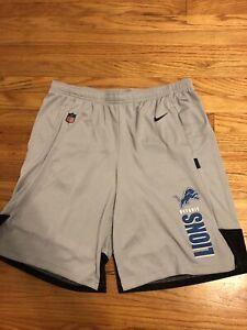 NWT Detroit Lions Mens Team Issued Nike DriFit Shorts Size XL RARE $55