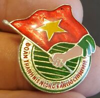 Vintage Ho Chi Minh Communist Youth Union Pin Vietnam
