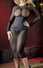langes Transparent-kleid Kleid XL schwarz
