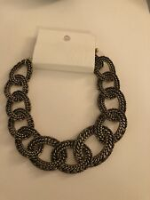 H&M Womens Chain Link Choker Necklace NWT