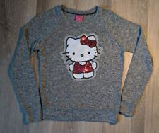 Hello Kitty Sanrio Sequin Gray Pullover Sweater Stretchy Small