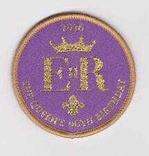 SCOUTS OF UK / BRITISH - QUEEN'S ELIZABETH II 90th BIRTHDAY 2016 SCOUT BADGE