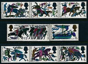 1966 GB BATTLE OF HASTINGS ANNIVERSARY SET OF 8 (PHOS) FINE MINT MNH SG705-SG712