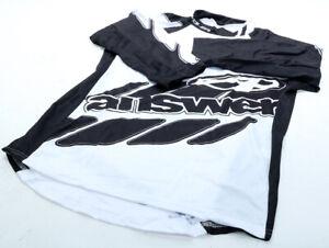 Answer Voler 3/4 Sleeve Jersey Black/White MTB NEW