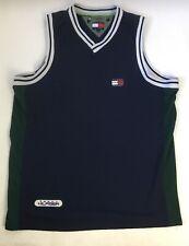 Tommy Hilfiger Athletics Vintage Sewn Mesh Tank Top Basketball Jersey Mens Lg Og