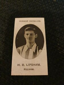 Prominent Footballers - Taddy - H.B. Lipsham (Fulham)