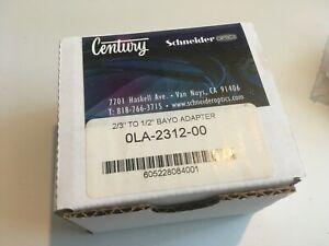 """Century 0LA-2312-00 2/3"""" Lens to 1/2"""" Camera Bayonet Mount Adapter NOS"""