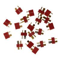 10 Paar Deans Rutschfester T-Stecker Maennliche+Weibliche RC ESC-Batterie T3O7