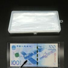 100Pcs Paper Banknote Stamps Collection Sleeves Clear Protect Storage Bag W