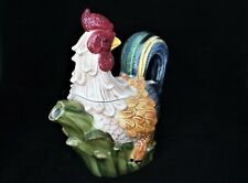 "Jay Import Vibrant Colorful Detailed 2 Piece Rooster Teapot 9.5"" x 9"""