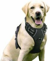 Front Adjustable Dog Harness Outdoor No-Pull Pet Vest 3M Sturdy Materials -Large