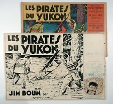 Marijac Dessin original couverture Jim Boum n° 64 Les pirates du Yukon TBE